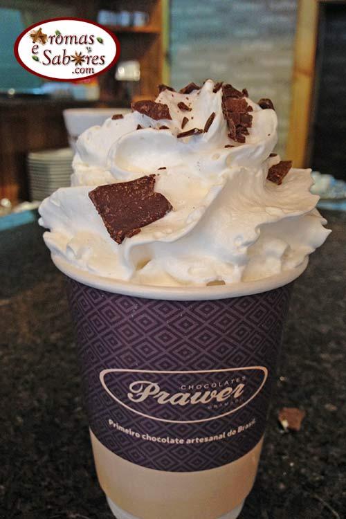 Chocolate quente de Gramado