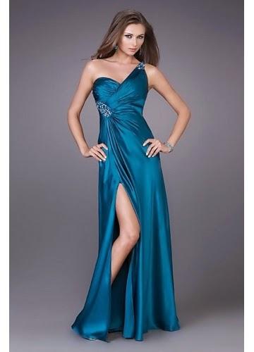 blue Elegant long Prom Dresses For You