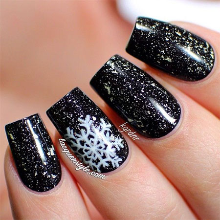 Black Acrylic Nail Designs Trends 2015 - 2016 11