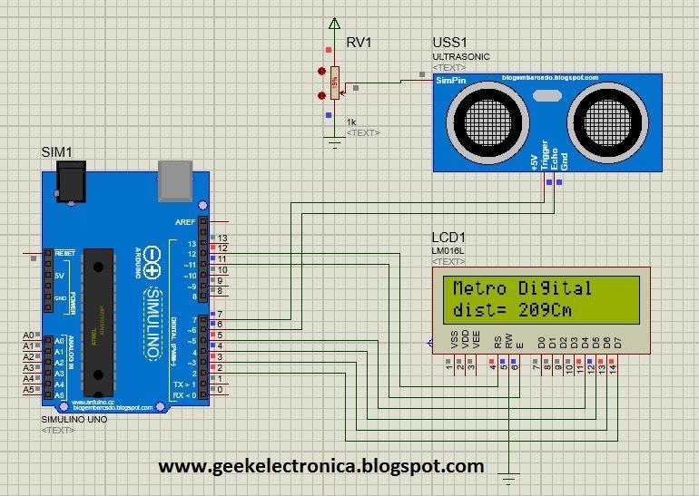 Simulaci 211 N De Sensor Ultras 211 Nico En Proteus Geek Electr 243 Nica