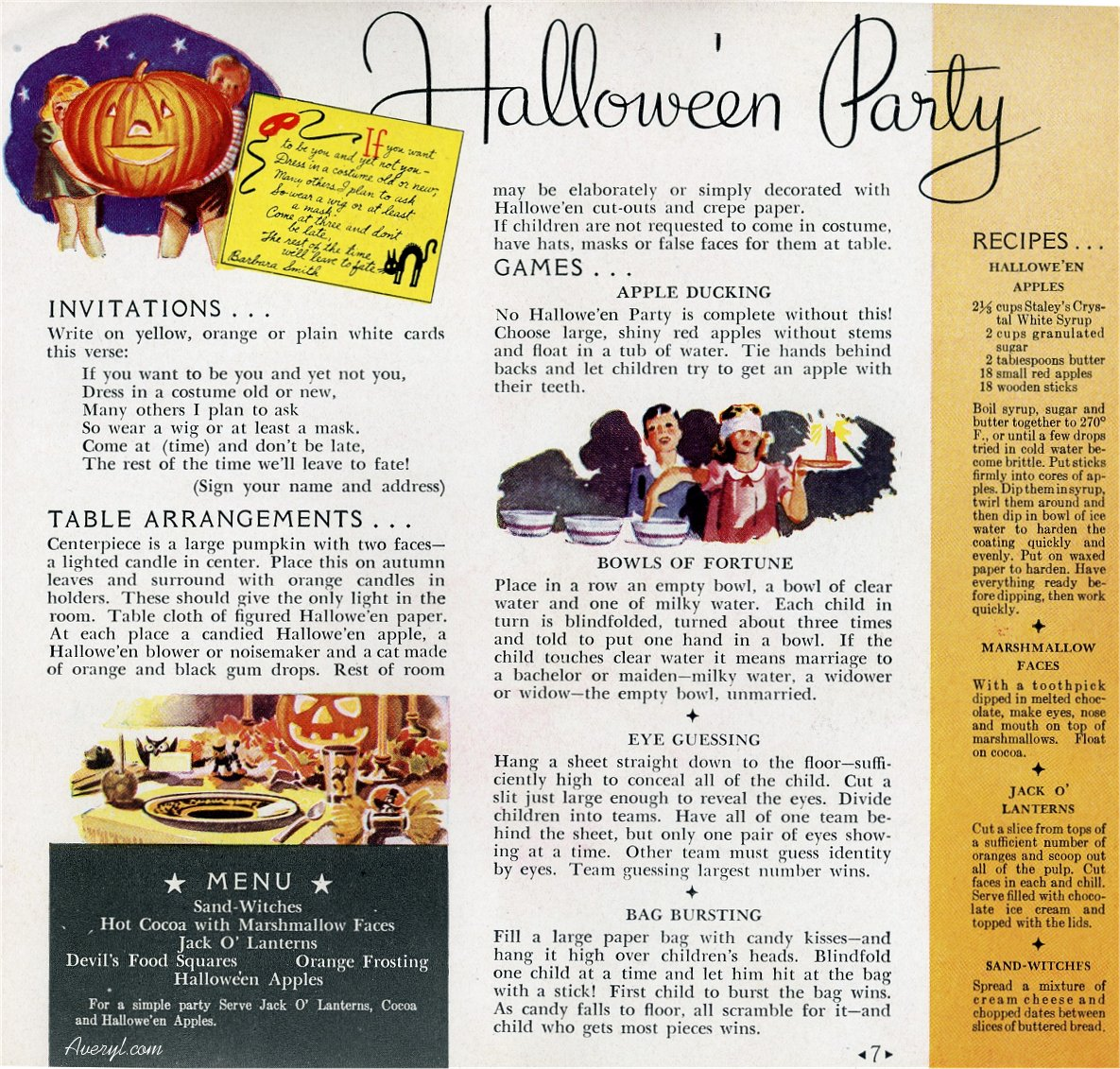 Vintage 1930s Halloween Party Ideas for the Kiddies