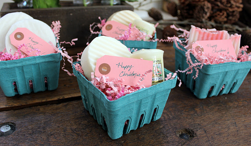 Handmade Soap Baskets : Berry baskets berries and soaps on