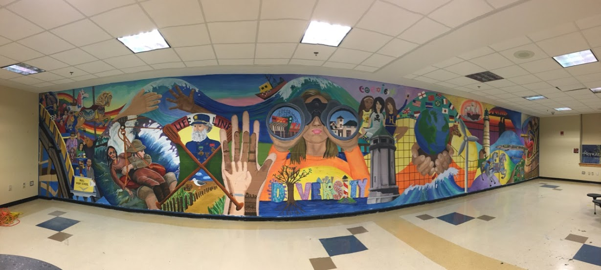 The hull high school blog high school mural is complete for Mural school