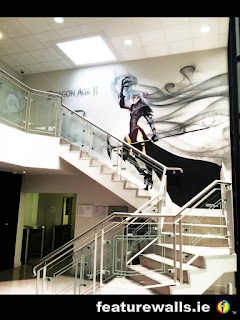 DRAGON AGE EA GAMES OFFICE MURAL HAND PAINTED BY FEATUREWALLS.IE