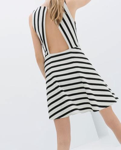 çizgili sırt dekolteli elbise, 2014 elbise modelleri