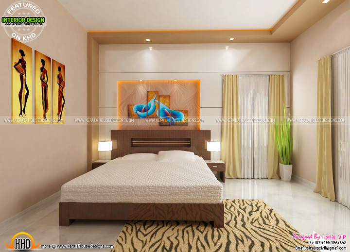 Master Bedroom Living Interior Decor Ideas Kerala Home Design And Floor Plans