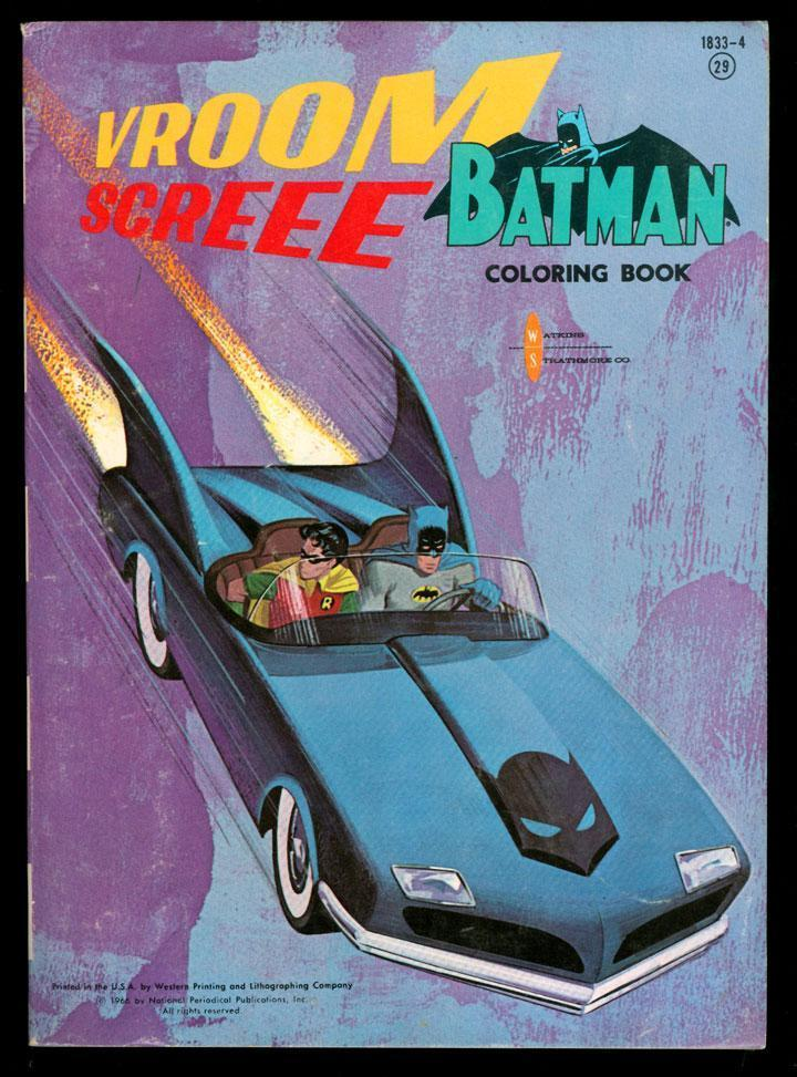 Vintage Batman Coloring Books