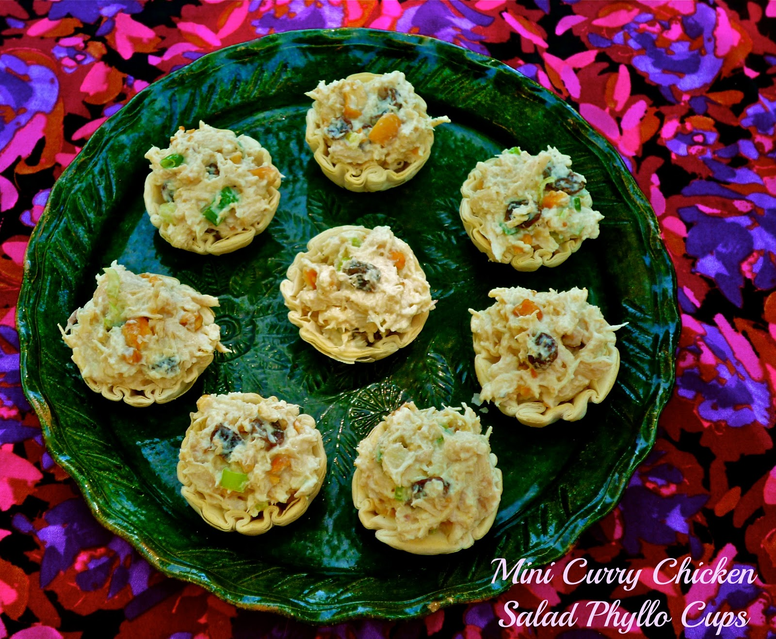 The weekend gourmet april showers sundaysupperfeaturing mini featuring mini curry chicken salad phyllo cups forumfinder Gallery