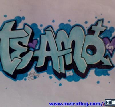 Graffiti te amo photo sexy girls for Te amo facebook