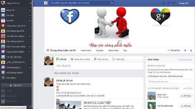 Giao dien trang nhom FAcebook, giao dien moi FB
