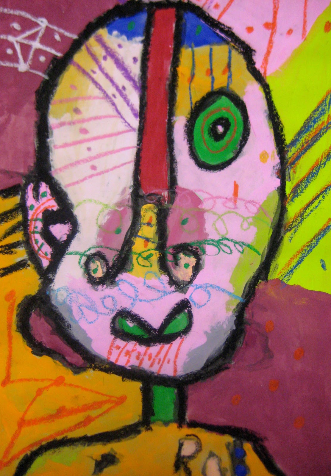 Experiments in Art Education: Abstract Portraits