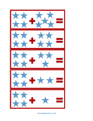 FREE star spangled addition & subtraction cards