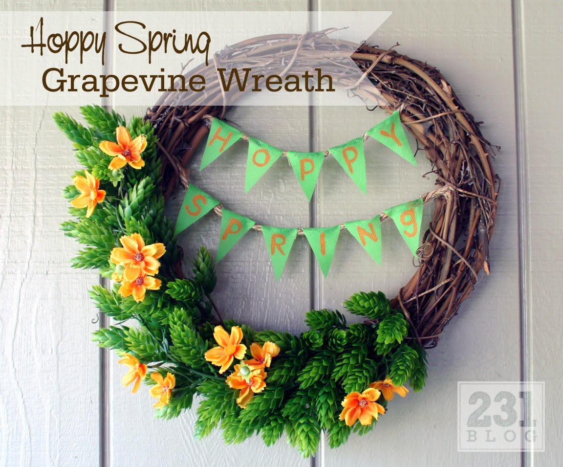 Hops For Decoration 231 Designs Hoppy Spring Front Porch Updates