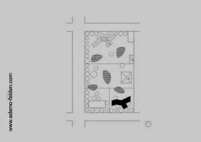 Plano del terreno y la parcela con la ubicación de la casa