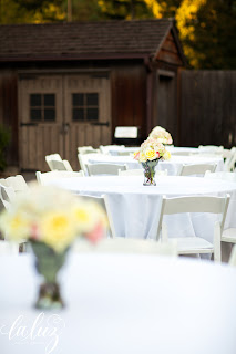 Reception was held on the patio at Robinswood House