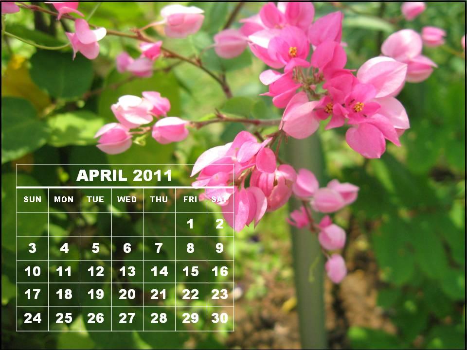 april 2011 calendar. april 2011 calendar with