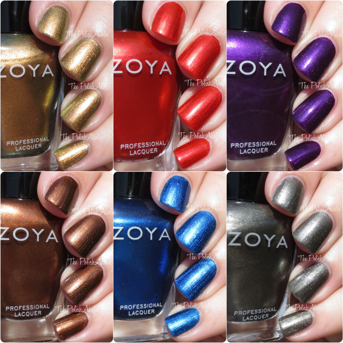 The PolishAholic: Zoya Fall 2015 Flair Collection Swatches & Review