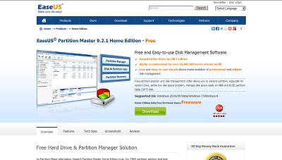 EASEUS Partition Master Home Edition - Free