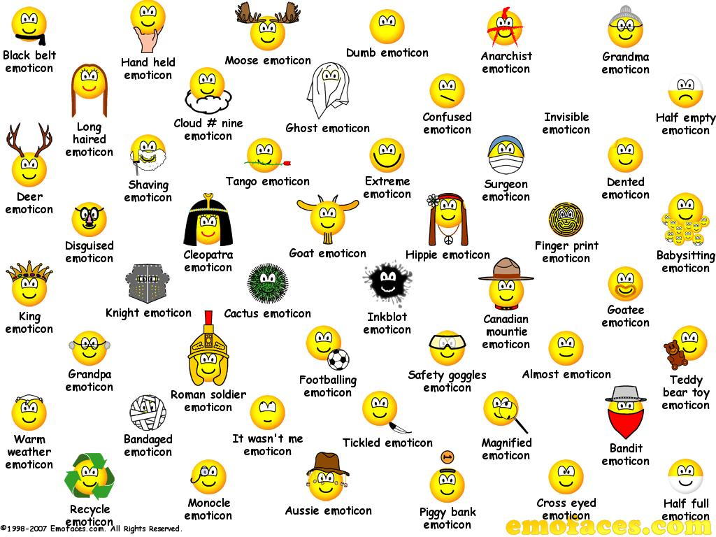 Emoticons For Facebook Yahoo And Skype