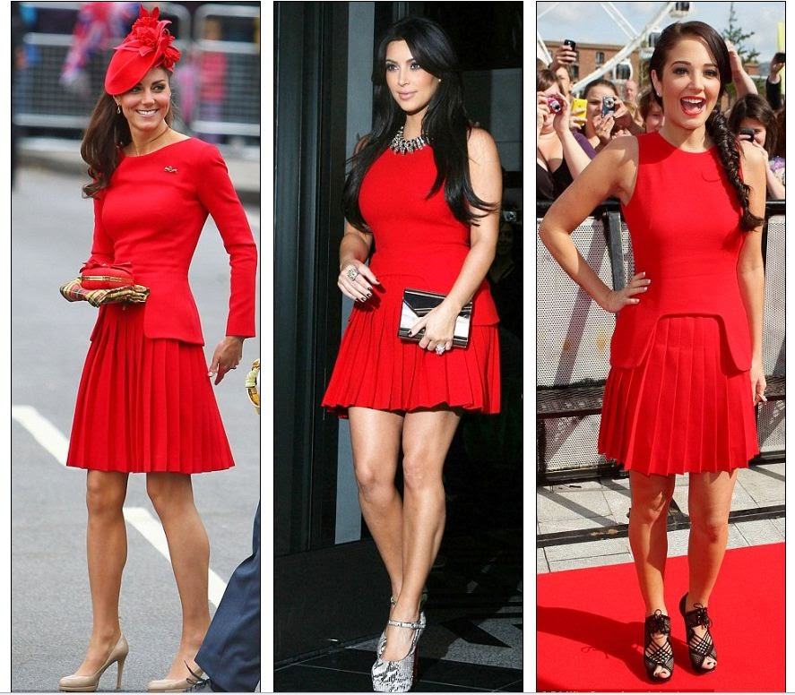 How do I wear a red dress - women's fashion