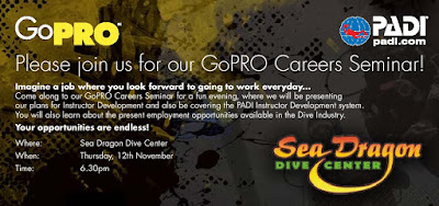 PADI Go Pro Career Information evening at PADI 5* IDC Center 'Sea Dragon' in Khao Lak, Thursday 12th November 2015