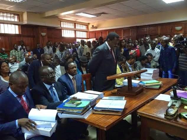in Court to challenge the new security Laws, RAILA looked worried