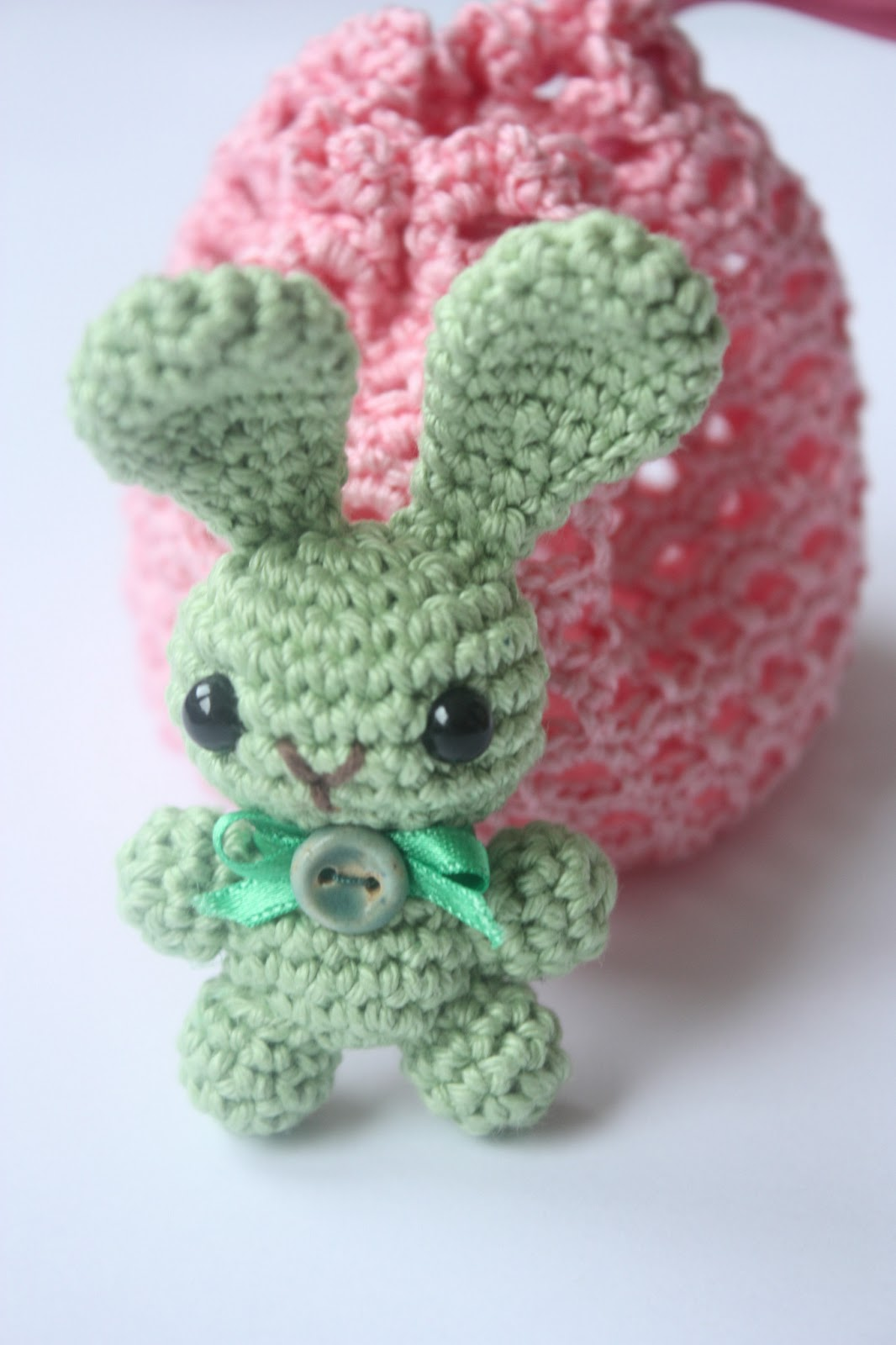Free Crochet Pattern For A Rabbit : Happyamigurumi: Working on Bunny Brooch Pattern