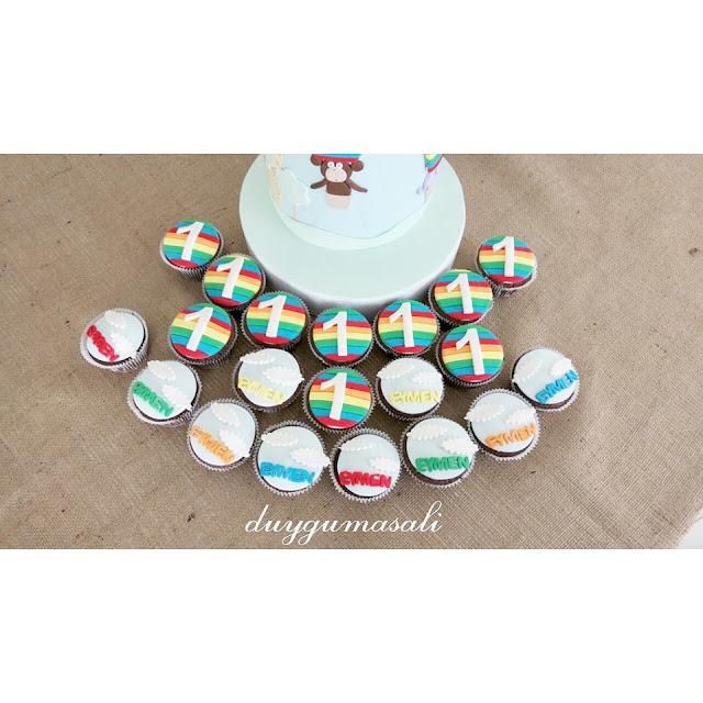1 yaş cupcake