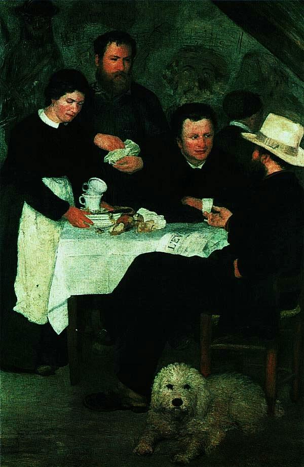 Пьер Огюст Ренуар. Трактир матушки Антони. 1866.