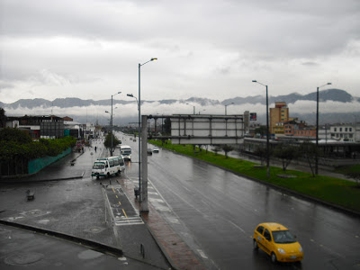 A dull, overcast day in Bogotá