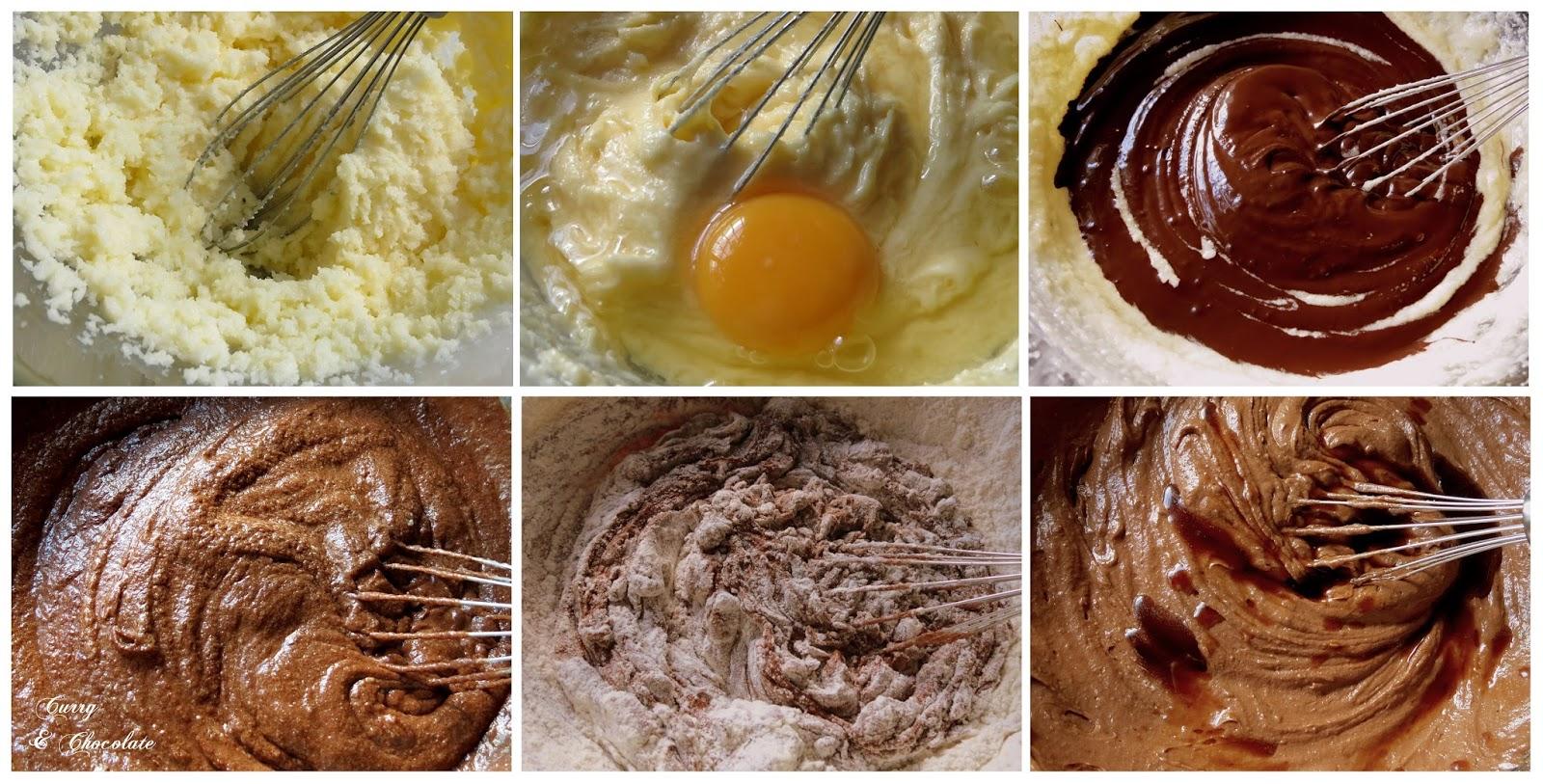 Preparando la masa del brownie