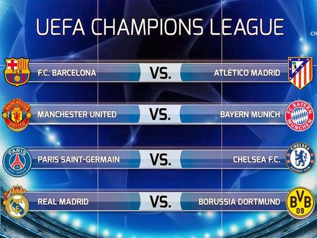 Deportes: Mucho fútbol: ☆ Champions League cuartos de final vuelta