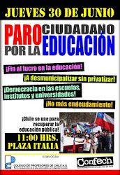 30 DE jUNIO: TODOS AL PARO CIUDADANO POR LA EDUCACION
