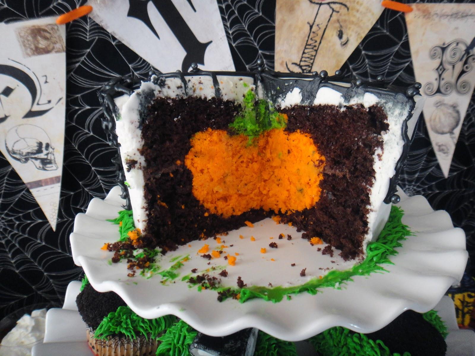 Halloween Chocolate Layer Cake