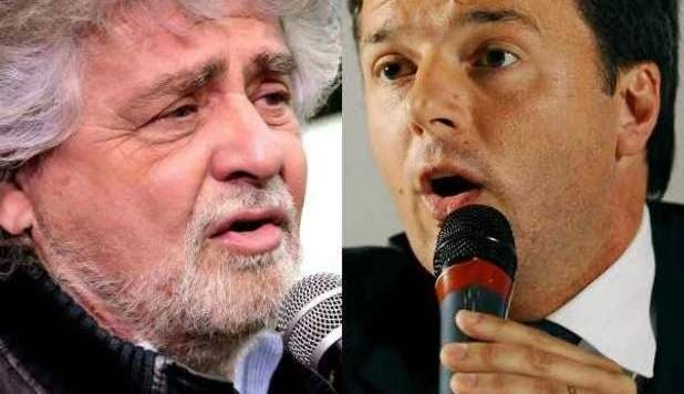 Renzi e Grillo sfida sempre accesa