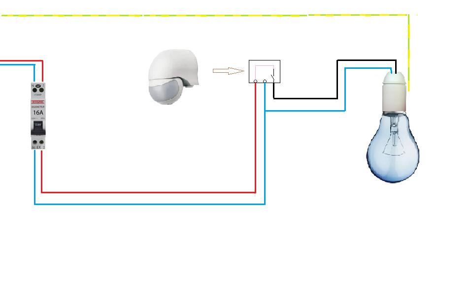 sch mas electriques schema electrique detecteur de presence. Black Bedroom Furniture Sets. Home Design Ideas