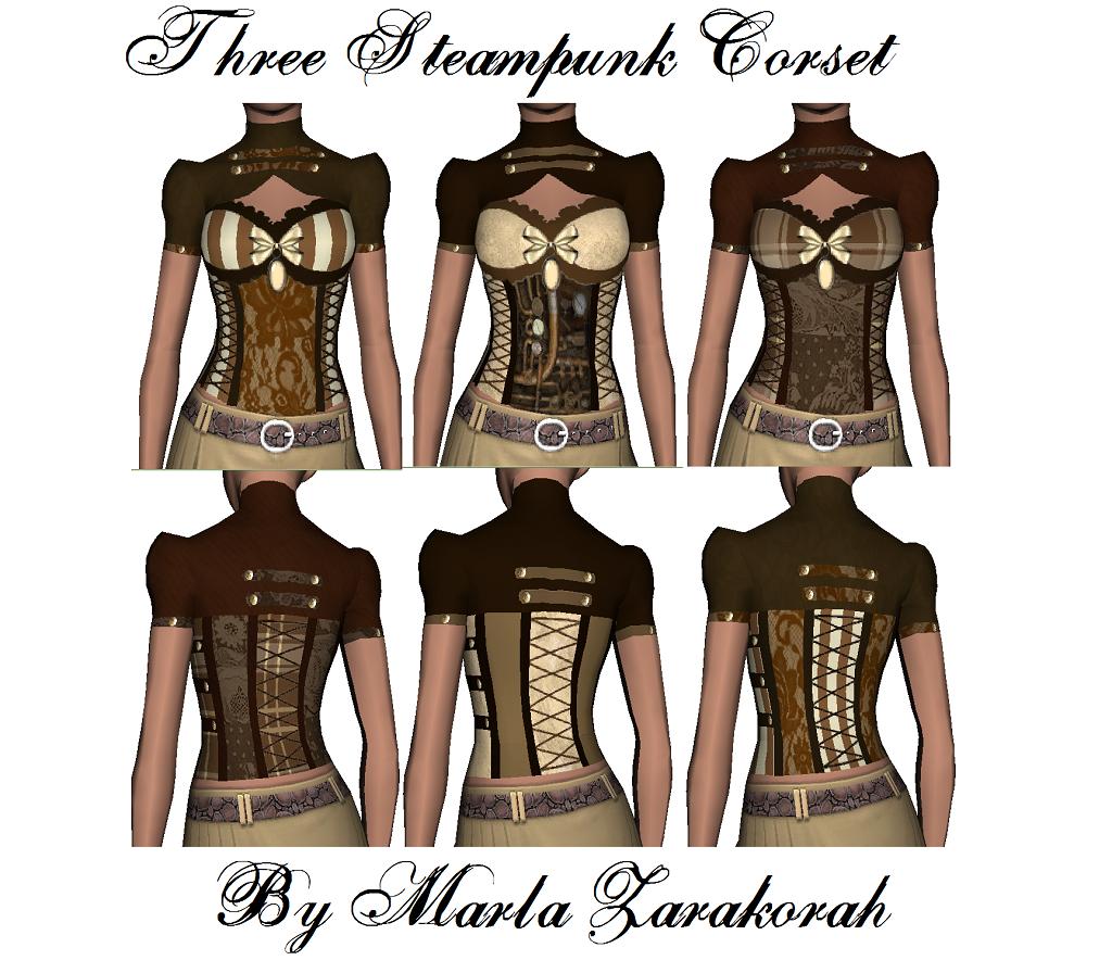 Sims 3 Steampunk Corset Dress