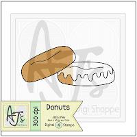Donuts Digital Stamp