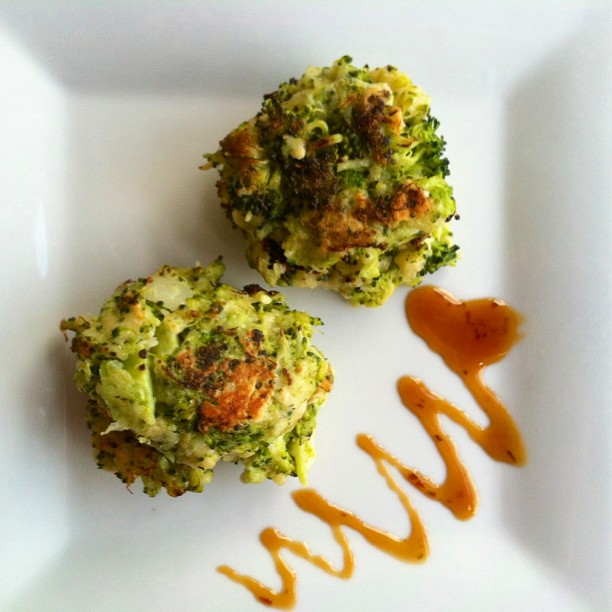 ... Leftovers Edition ~ Steamed Broccoli turned Broccoli Parmesan Fritters