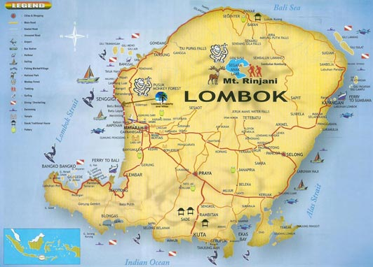 Picture perfect places lombok indonesia geography lombok is an island in the west nusa tenggara province nusa tenggara means the southeast islands it is one of the lesser sundas islands gumiabroncs Choice Image