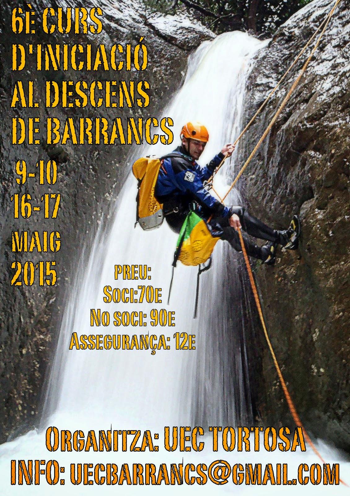 6è CURS D'INICIACIÓ AL DESCENS DE BARRANCS