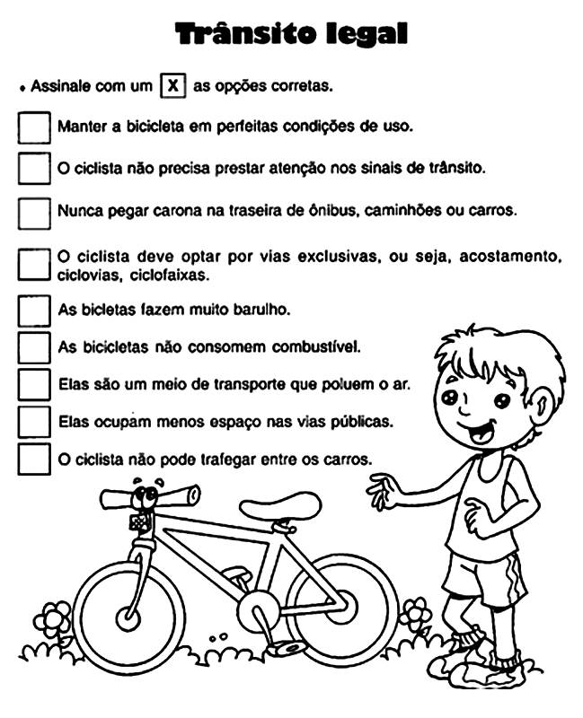 Suficiente Espaço Saber Infantil: Atividades sobre Trânsito Atividade sobre  BZ23