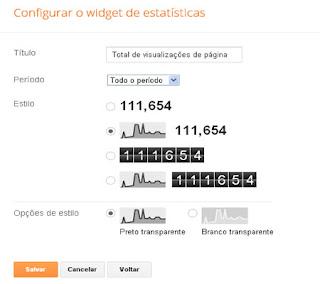 configurar gadgets blogspot visitantes