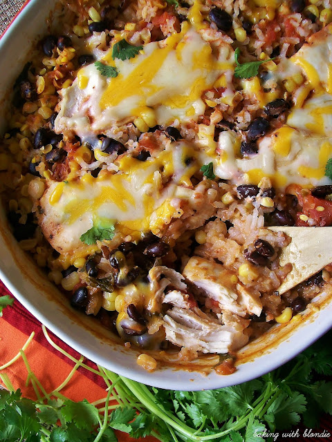 Southwestern Salsa Chicken Casserole