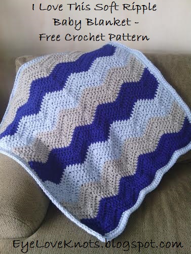 Free Crochet Baby Blanket Ripple Patterns : EyeLoveKnots: I Love This Soft Ripple Baby Blanket - Free ...