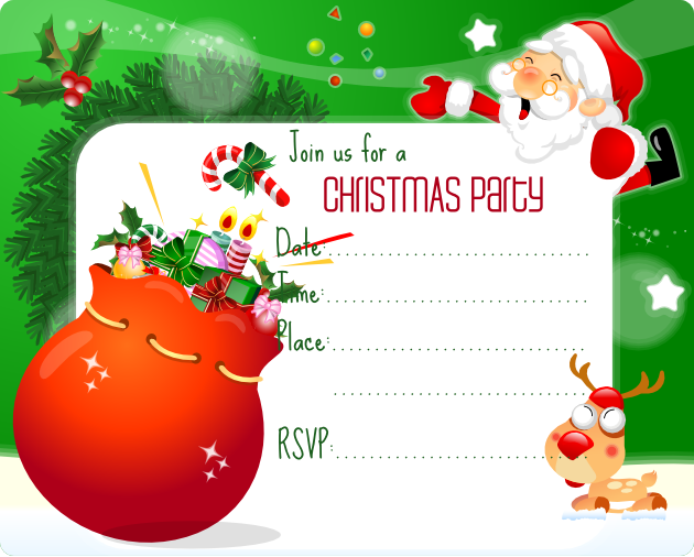 printable christmas y christmas party invitations templates free ...