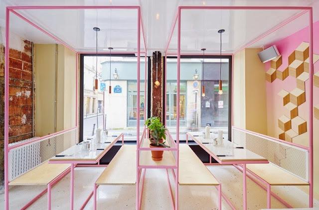 PNY Burgers Les Marais, Paris, by CUT Architectures - Nest of Pearls