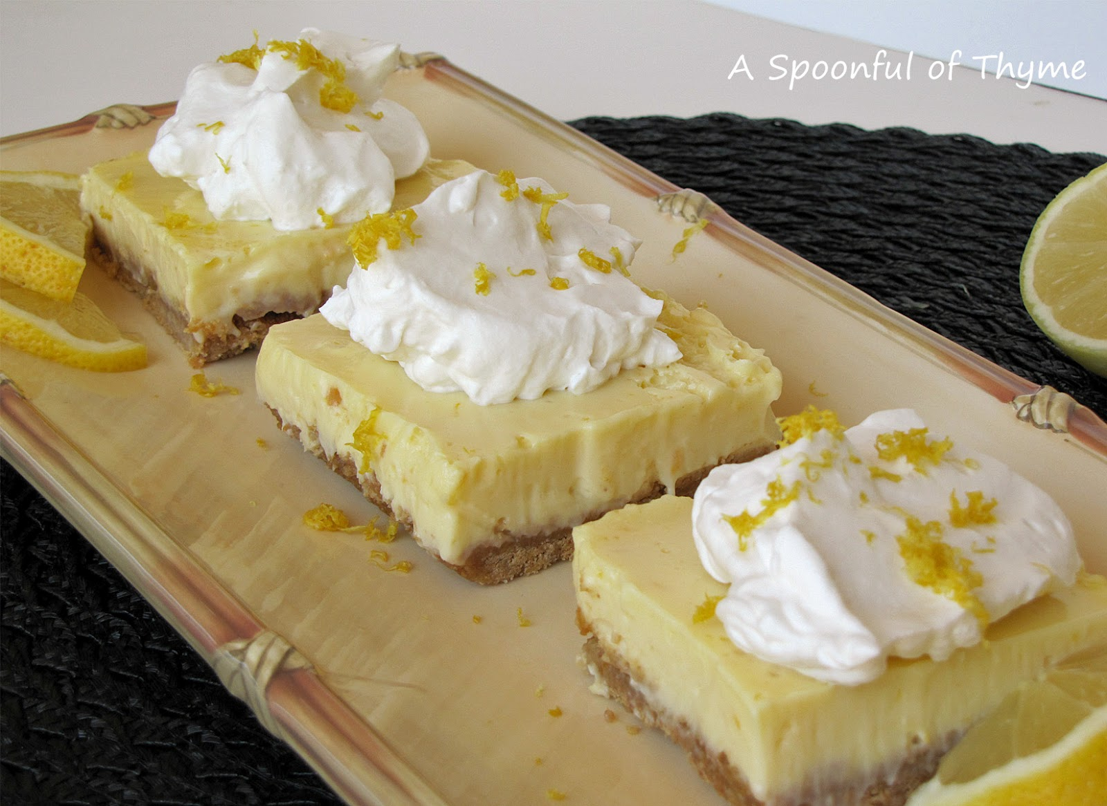 Spoonful of Thyme: Lemon Pie Bars...Another New Cookbook