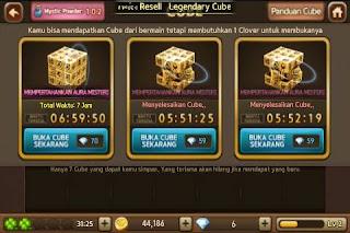 Cara Melakukan Bug Mystic Powder Legendary Cube, Solusi Membuka Legendary Cube tanpa Mystic Powder.