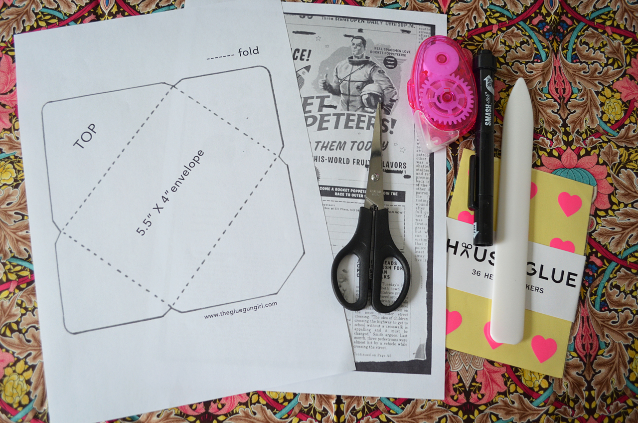 thegluegungirlDIY ENVELOPE TUTORIAL  TEMPLATE